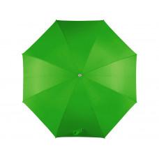 Зонт-трость механический с полупрозрачной ручкой, зеленый