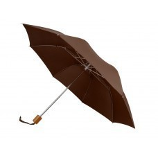 """Зонт Oho двухсекционный 20"""", коричневый"""