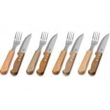 """Набор """"Jumbo"""" из 8 столовых приборов, коричневый"""