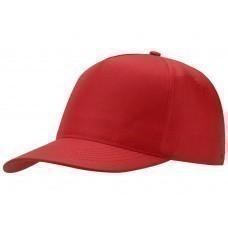 """Бейсболка """"Mix"""" 5-ти панельная, красный"""