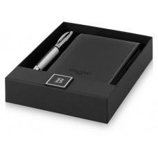 """Набор подарочный от """"Balmain"""" в коробке: ручка шарикова, книжка записная, черные чернила"""