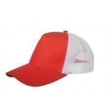 """Бейсболка """"Mesh"""" 5-ти панельная, красный"""