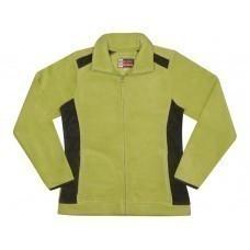 """Куртка флисовая """"Alabama"""" женская, зеленое яблоко/темно-серый"""