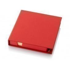 """Блок для записей """"Samba"""" с набором стикеров и ручкой, красный"""
