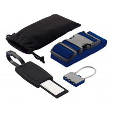 Набор для путешествий: бирка, кодовый замок, фиксирующий ремень для багажа, в чехле