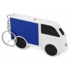 Рулетка в виде автомобиля с набором отверток, синий