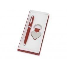 """Подарочный набор """"Сердце"""": ручка шариковая, брелок, красный"""