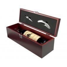 """Коробка для вина """"Executive"""" с пробкой для бутылки и штопором"""