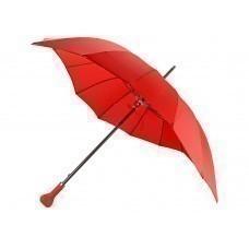 """Зонт-трость """"I love you"""" в форме сердца механический, красный"""