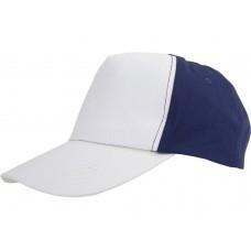 "Бейсболка ""Arizona"" 5-ти панельная, белый/темно-синий"