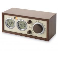 """Радио AM/FM """"Classic"""" Радио, календарь, термометр, измеритель влажности, часы, будильник. Дерево."""
