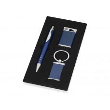 "Набор ""Оревуар"": ручка шариковая, брелок, зажигалка, синий"