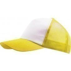 Бейсболка BULL, белая с желтым