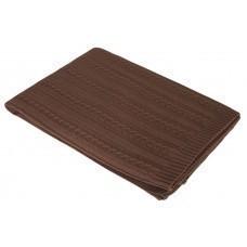 Плед Comfort, темно-коричневый (кофейный)