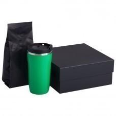 Набор Grain: термостакан и кофе, зеленый