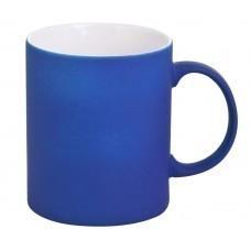 Кружка Promo c прорезиненным покрытием, синяя