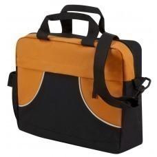 Сумка для документов Share, оранжевая с черным