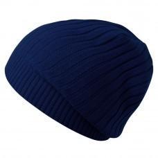 Шапка Stripes, темно-синяя