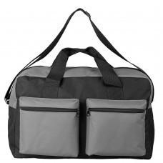 Дорожная сумка Double pocket, черно-серая