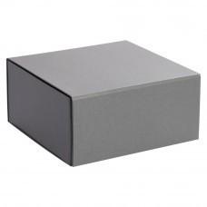 Коробка Shine раскладная на магнитах, серебристая