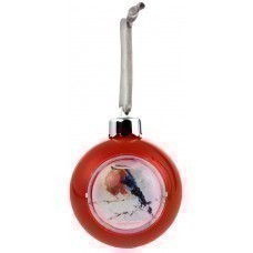 Елочный шар-шкатулка, красный