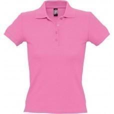 Рубашка поло женская PEOPLE 210, «розовая орхидея»