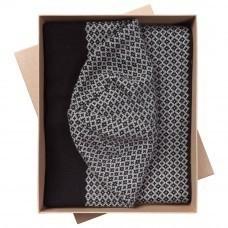 Набор Crown: шарф и шапка, черно-серый