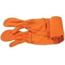 Шарф с варежками, оранжевый