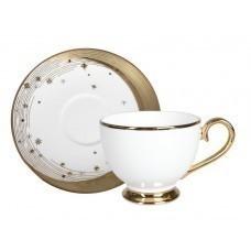 Чайный дуэт «Ночь» с белым блюдцем