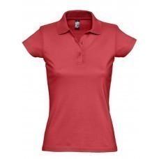 Рубашка поло женская Prescott women 170, красная