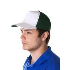 Бейсболка Unit Pro, белая с зеленым