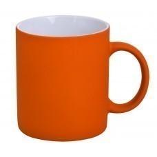 Кружка Promo c покрытием софт-тач, оранжевая