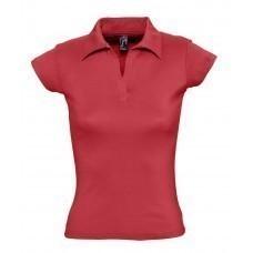 Рубашка поло женская без пуговиц PRETTY 220, красная