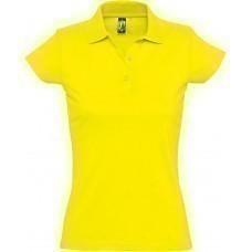 Рубашка поло женская Prescott women 170, желтая (лимонная)