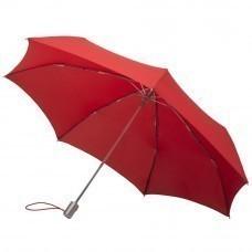 Складной зонт Alu Drop, 3 сложения, 7 спиц, автомат, красный