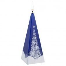 Свеча ручной работы «Зимний лес», в форме пирамиды