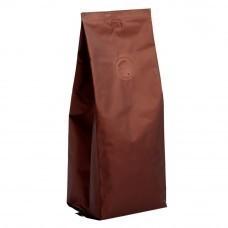 Кофе в зернах, в коричневой упаковке