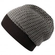 Шапка Crown, черно-серая