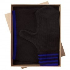 Набор Best: шапка, шарф и варежки, черно-синий