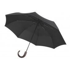 Складной зонт Wood Classic, черный, без чехла