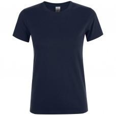 Футболка женская REGENT WOMEN, темно-синяя (navy)
