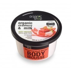 Мусс для тела «Земляничный йогурт»