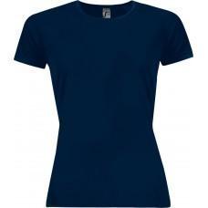 Футболка женская SPORTY WOMEN 140, темно-синяя