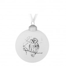 Елочный шар Forest, 8 см, с изображением совы