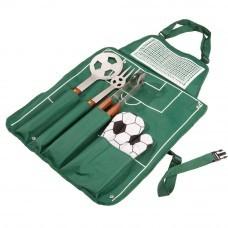 Фартук с набором для барбекю «Футбол», зеленый