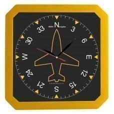 Часы настенные «Квадро», желтые
