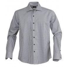 Рубашка мужская в клетку TRIBECA, черная