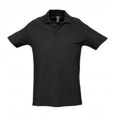 Рубашка поло мужская SPRING 210, черная