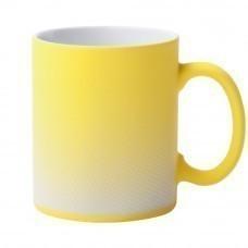 Кружка Dot с покрытием софт-тач и гравировкой, желтая