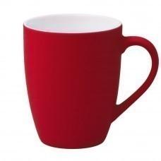 Кружка Good Morning c прорезиненным покрытием, красная